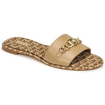Cipők Női Papucsok MICHAEL Michael Kors RINA SLIDE Teve