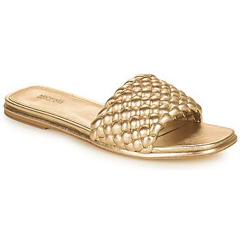 Cipők Női Papucsok MICHAEL Michael Kors AMELIA FLAT SANDAL Arany