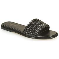 Cipők Női Papucsok MICHAEL Michael Kors AMELIA FLAT SANDAL Fekete