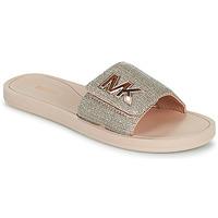 Cipők Női strandpapucsok MICHAEL Michael Kors MK SLIDE Rózsaszín / Bőrszínű / Arany
