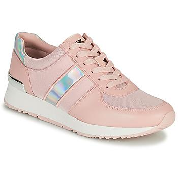 Cipők Női Rövid szárú edzőcipők MICHAEL Michael Kors ALLIE TRAINER Rózsaszín