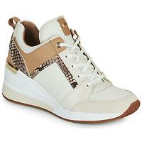 Cipők Női Rövid szárú edzőcipők MICHAEL Michael Kors GEORGIE TRAINER Bézs
