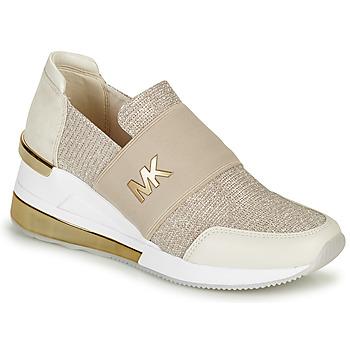 Cipők Női Rövid szárú edzőcipők MICHAEL Michael Kors FELIX TRAINER EXTREME Pezsgő