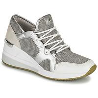 Cipők Női Rövid szárú edzőcipők MICHAEL Michael Kors LIV TRAINER Ezüst