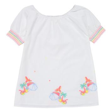 Ruhák Lány Rövid ruhák Billieblush / Billybandit U12657-10B Fehér