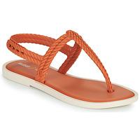 Cipők Női Lábujjközös papucsok Melissa FLASH SANDAL & SALINAS Narancssárga / Bézs