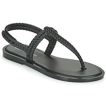 Cipők Női Lábujjközös papucsok Melissa FLASH SANDAL + SALINAS Fekete