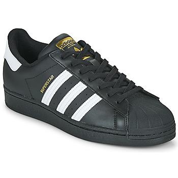 Cipők Rövid szárú edzőcipők adidas Originals SUPERSTAR Fekete  / Fehér