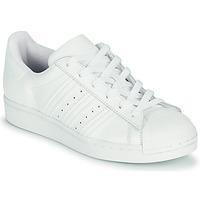 Cipők Gyerek Rövid szárú edzőcipők adidas Originals SUPERSTAR J Fehér