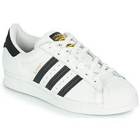 Cipők Gyerek Rövid szárú edzőcipők adidas Originals SUPERSTAR J Fehér / Fekete