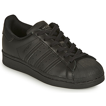 Cipők Gyerek Rövid szárú edzőcipők adidas Originals SUPERSTAR J Fekete