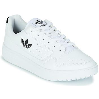 Cipők Gyerek Rövid szárú edzőcipők adidas Originals NY 92 J Fehér / Fekete