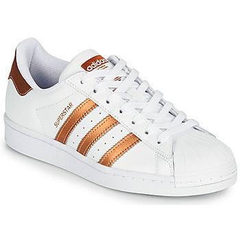 Cipők Női Rövid szárú edzőcipők adidas Originals SUPERSTAR W Fehér / Bronz