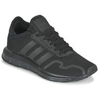 Cipők Gyerek Rövid szárú edzőcipők adidas Originals SWIFT RUN X J Fekete