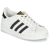 Cipők Gyerek Rövid szárú edzőcipők adidas Originals SUPERSTAR C Fehér / Fekete