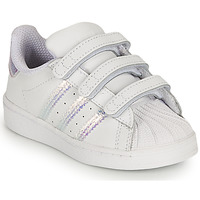 Cipők Lány Rövid szárú edzőcipők adidas Originals SUPERSTAR CF I Fehér / Irizáló