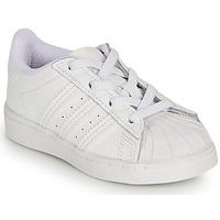 Cipők Lány Rövid szárú edzőcipők adidas Originals SUPERSTAR EL I Fehér / Irizáló