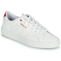 Cipők Női Rövid szárú edzőcipők adidas Originals adidas SLEEK W Fehér