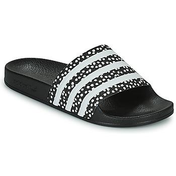 Cipők Női strandpapucsok adidas Originals ADILETTE W Fekete  / Fehér
