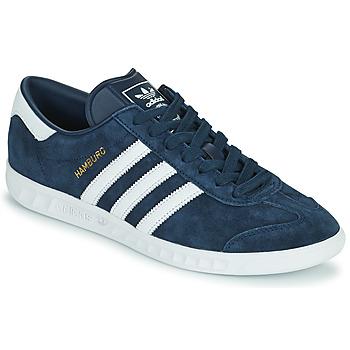 Cipők Férfi Rövid szárú edzőcipők adidas Originals HAMBURG Tengerész