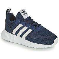 Cipők Gyerek Rövid szárú edzőcipők adidas Originals SMOOTH RUNNER EL I Tengerész / Fehér