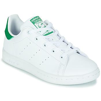 Cipők Gyerek Rövid szárú edzőcipők adidas Originals STAN SMITH C SUSTAINABLE Fehér / Zöld