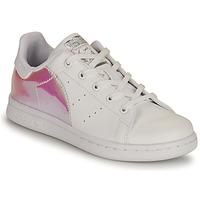 Cipők Lány Rövid szárú edzőcipők adidas Originals STAN SMITH C SUSTAINABLE Fehér / Rózsaszín / Irizáló