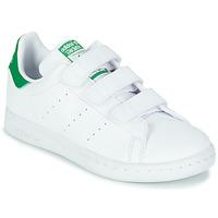 Cipők Gyerek Rövid szárú edzőcipők adidas Originals STAN SMITH CF C SUSTAINABLE Fehér / Zöld / Vegán