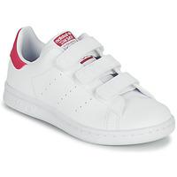 Cipők Lány Rövid szárú edzőcipők adidas Originals STAN SMITH CF C SUSTAINABLE Fehér / Rózsaszín