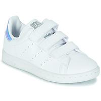 Cipők Lány Rövid szárú edzőcipők adidas Originals STAN SMITH CF C SUSTAINABLE Fehér / Irizáló