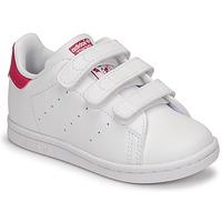Cipők Lány Rövid szárú edzőcipők adidas Originals STAN SMITH CF I SUSTAINABLE Fehér / Rózsaszín