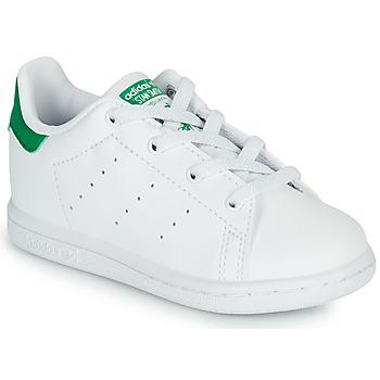 Cipők Gyerek Rövid szárú edzőcipők adidas Originals STAN SMITH EL I SUSTAINABLE Fehér / Zöld