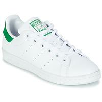 Cipők Gyerek Rövid szárú edzőcipők adidas Originals STAN SMITH J SUSTAINABLE Fehér / Zöld