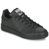 Cipők Gyerek Rövid szárú edzőcipők adidas Originals STAN SMITH J SUSTAINABLE Fekete