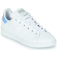 Cipők Lány Rövid szárú edzőcipők adidas Originals STAN SMITH J SUSTAINABLE Fehér / Irizáló