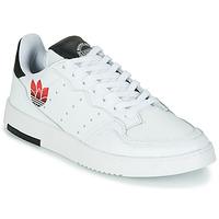 Cipők Női Rövid szárú edzőcipők adidas Originals SUPERCOURT Fehér / Fekete