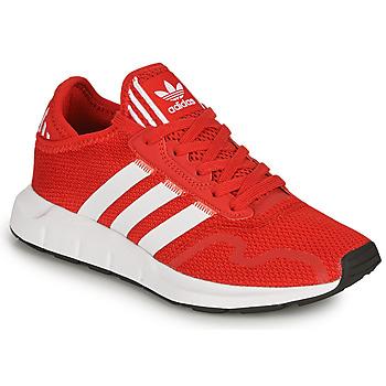 Cipők Gyerek Rövid szárú edzőcipők adidas Originals SWIFT RUN X J Piros