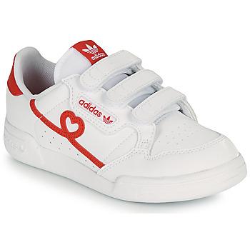 Cipők Lány Rövid szárú edzőcipők adidas Originals CONTINENTAL 80 CF C Fehér / Piros