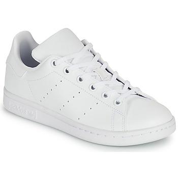 Cipők Gyerek Rövid szárú edzőcipők adidas Originals STAN SMITH J SUSTAINABLE Fehér