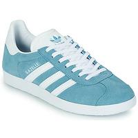 Cipők Női Rövid szárú edzőcipők adidas Originals GAZELLE W Kék