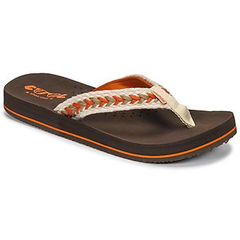 Cipők Női Lábujjközös papucsok Cool shoe NUBE Barna
