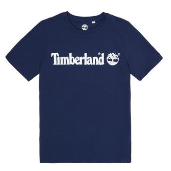 Ruhák Fiú Rövid ujjú pólók Timberland VUILL Tengerész