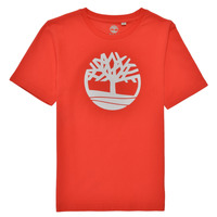 Ruhák Fiú Rövid ujjú pólók Timberland LOLLA Piros