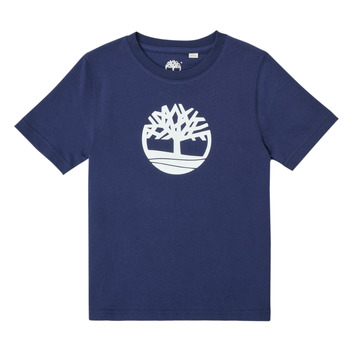 Ruhák Fiú Rövid ujjú pólók Timberland TRISTA Kék