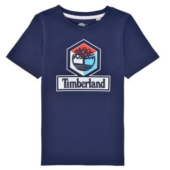 Ruhák Fiú Rövid ujjú pólók Timberland GRISS Tengerész
