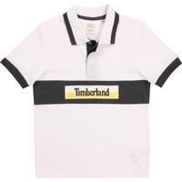 Ruhák Fiú Rövid ujjú galléros pólók Timberland DOTTO Fehér