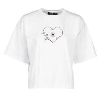 Ruhák Női Rövid ujjú pólók Converse CHUCK WOMENS LOVE BOXY TEE Fehér