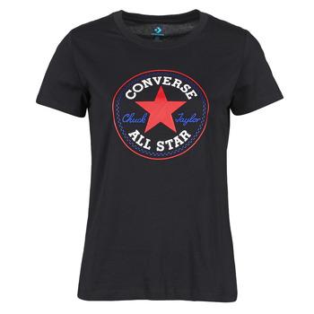 Ruhák Női Rövid ujjú pólók Converse CHUCK PATCH NOVA TEE Fekete