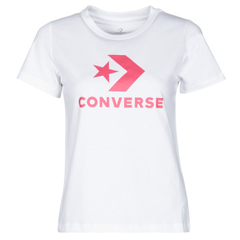 Ruhák Női Rövid ujjú pólók Converse STAR CHEVRON CENTER FRONT TEE Fehér