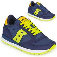 Cipők Rövid szárú edzőcipők Saucony JAZZ ORIGINAL Kék / Citromsárga